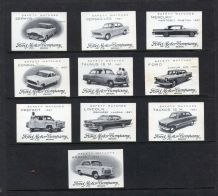 Ford Motor cars complete set on Matchbox labels, pretty set, MUST SEE * * * #729
